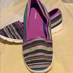 Lands ends multi color loafers